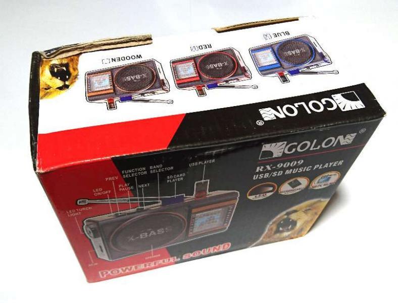 Радиоприемник с акустической колонкой GOLON RX-9009