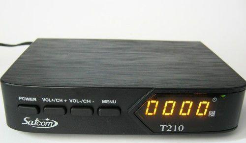 Цифровой эфирный тюнер T2 Satcom T-210