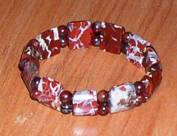 Браслет из красно-коричневой яшмы *5966