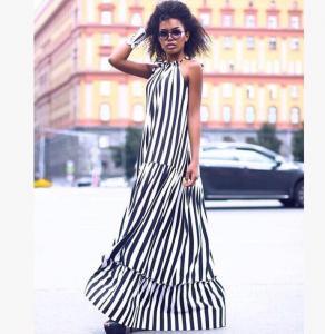 Фото Хіти продаж Плаття смуга максі