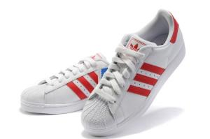 Фото  Adidas Superstar White-Red -