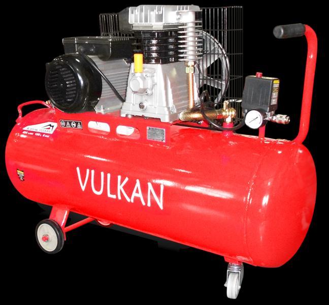 Компрессор двухпоршневой ременной Vulkan IBL2070 100L