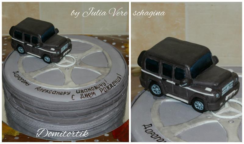 Торт Автомобиль Mercedes G (Мерседес, кубик)