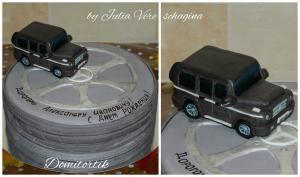 Фото Торты, Торт-прикол Торт Автомобиль Mercedes G (Мерседес, кубик)