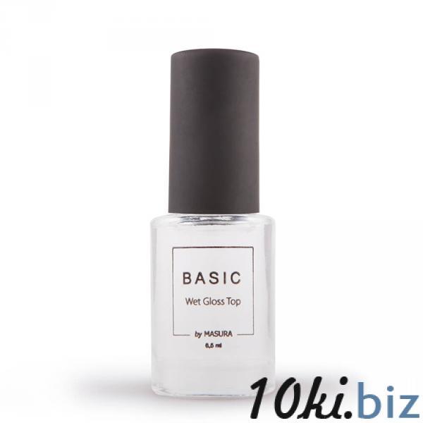 Топ-покрытие BASIC Wet Gloss Top с эффектом мокрого блеска, 6,5 мл Средства по уходу за ногтями и кутикулой в России