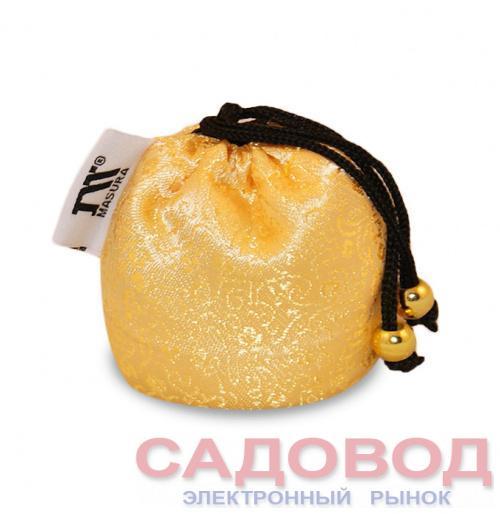 Шелковый мешочек АЦУИ Золотой Шелк Все для японского маникюра на рынке Садовод