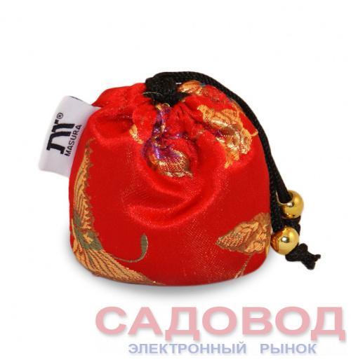 Шелковый мешочек АЦУИ Красный Шелк Все для японского маникюра на рынке Садовод