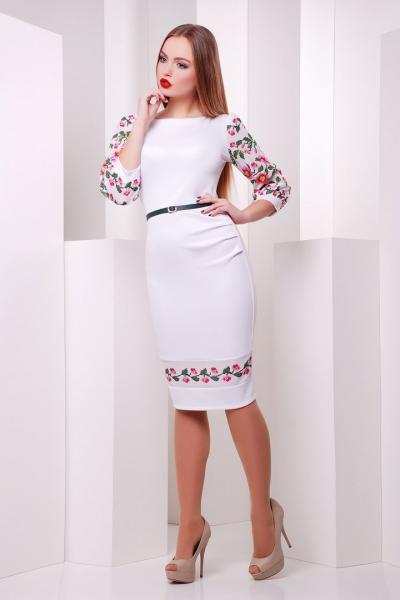 Фото Одяг з вишивкою Плаття Рукав квіти 7bf4c130dad58