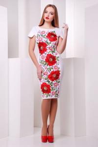 Фото Одяг з вишивкою Плаття Троянда