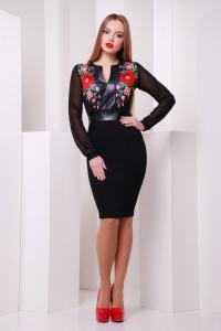 Фото Одяг з вишивкою Плаття шифонові рукави