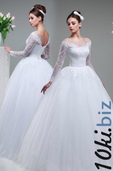 Пышное свадебное платье с длинными рукавами Джессика Свадебные платья в Москве