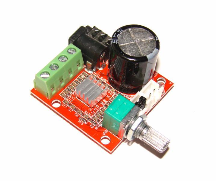Стерео аудио усилитель 2 х 15W PAM8610