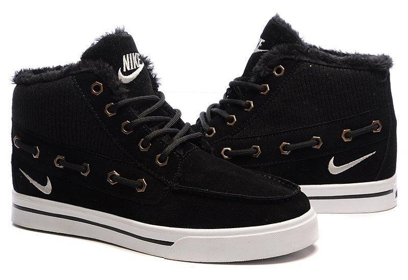 Nike High Top Fur Black