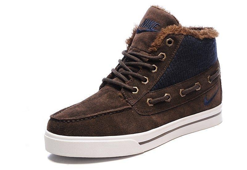 Nike High Top Fur Brown
