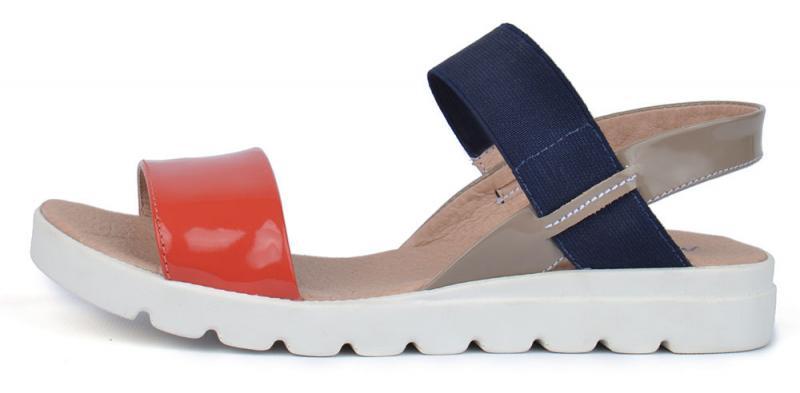 Босоножки женские кожаные на платформе Great Shoes красные синие хаки