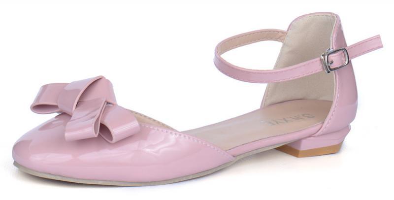 Босоножки женские на маленьком каблуке лакированные Rose розовые пудра