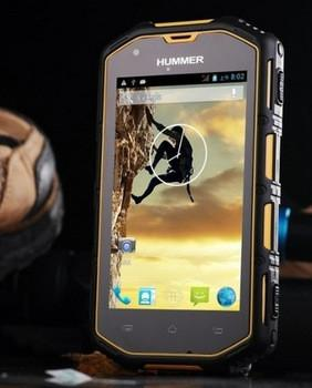 2014 Hummer H5 Android 4.2 MTK6572A Dual Core 1,3 ГГц смартфон Прочный IP68 Водонепроницаемый GPS 512M + 4G