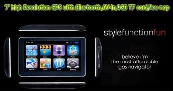 """7 """"Автомобильный навигатор GPS с Bluetooth + AV IN + FM окна Transimitter CE6.0 + 4 Гб карты"""