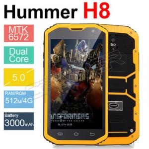 Фото  Hummer H8  с IP68 MTK6572 Aндроид 4.2 3 г GPS AGPS 5.0 дюймов противоударный водонепроницаемый смартфон 3000 м