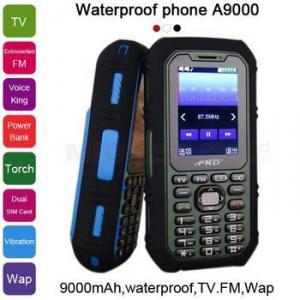 Фото  9000 мАч, зарядное устройство, фонарь, TV, FM, голосовое управление, двойная SIM водонепроницаемый.A9000 P481