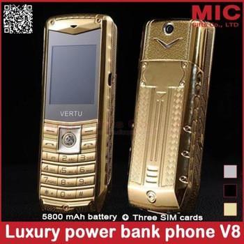 Роскошный  мобильный телефон, 3 SIM карты, металлический корпус, 5800 мАч,  P226