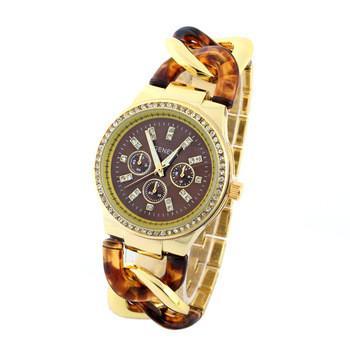 Relogio feminino кварцевые часы бренда женева горный хрусталь кварцевые часы свободного покроя стиль дамы