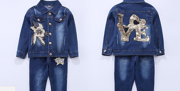 Комплект джинсовый для девочек.