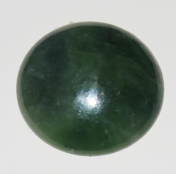 Кабошон нефрит D 25х6 мм
