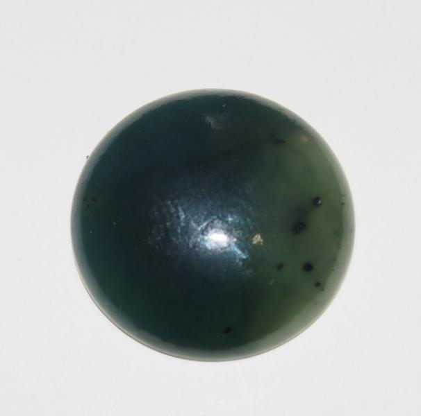 Кабошон нефрит D 20х5 мм