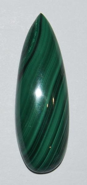 Кабошон малахит натуральный  28х10 мм