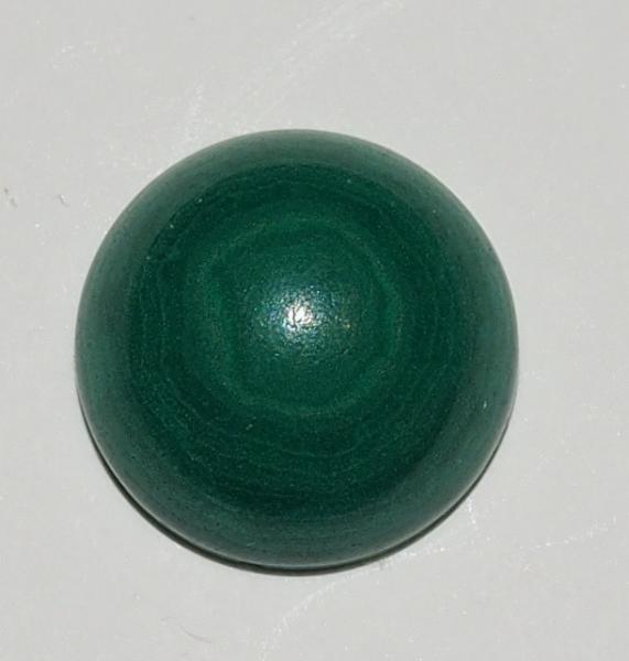 Кабошон малахит натуральный D 12х6 мм