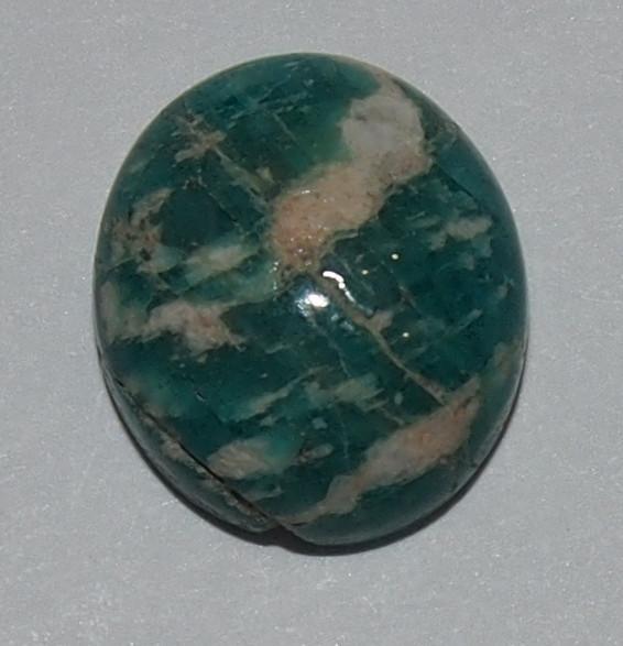 Кабошон амазонит  14х12х4 мм