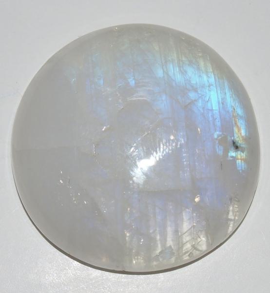 Кабошон лунный камень Д31х8 мм