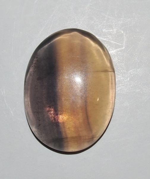 Кабошон флюорит 28х21х7  мм
