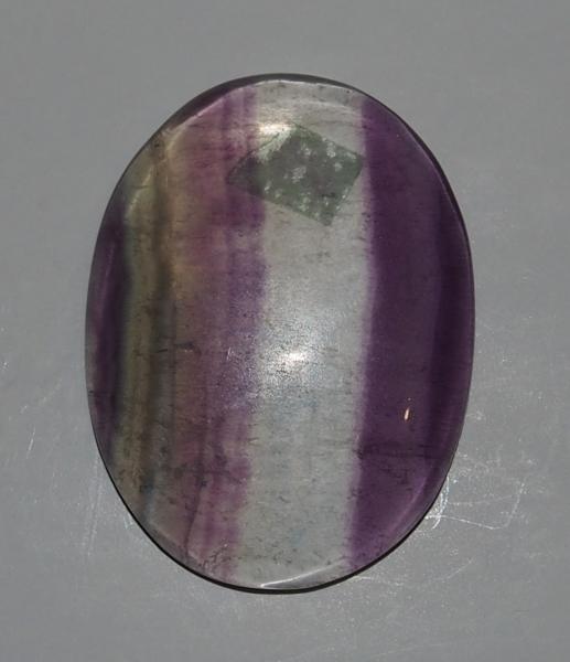 Кабошон флюорит  37х28х6 мм