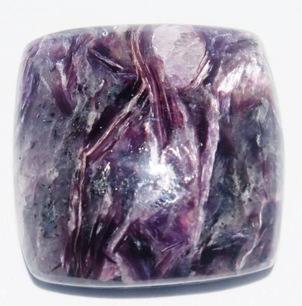 Кабошон чароит экстра  20х20х6 мм натуральный камень