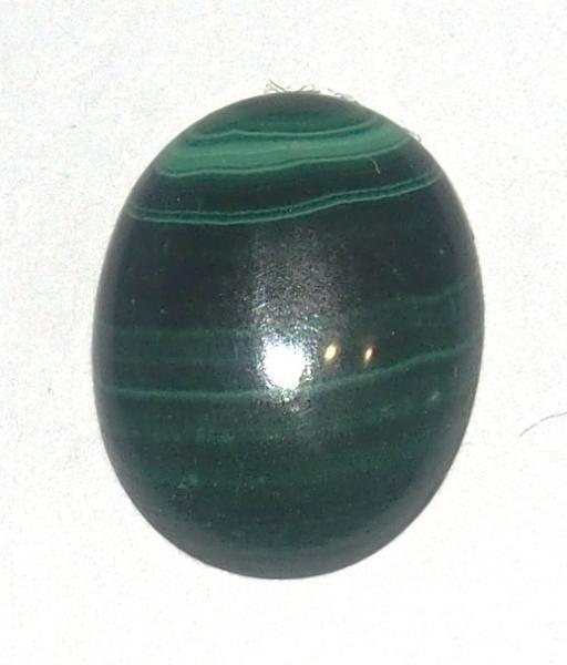 Кабошон малахит натуральный 14х10х5 мм
