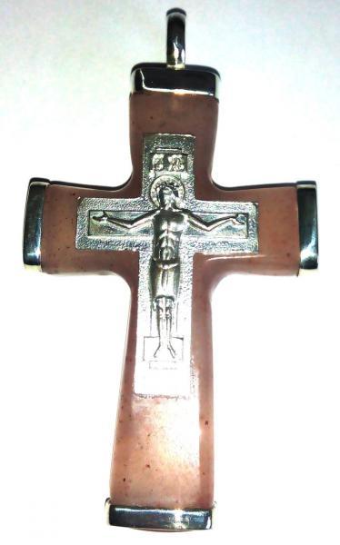Крест православный из джамбульского халцедона