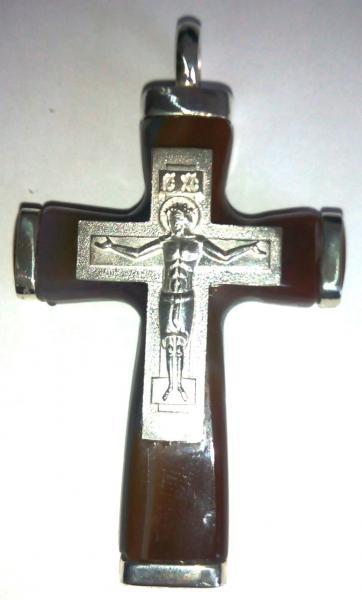 Крест православный из агата