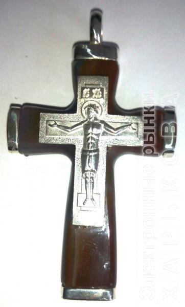 Крест православный из агата - Кулоны, подвески на рынке Барабашова