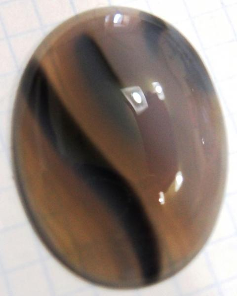Фото Агат Кабошон агат 40х30 мм натуральный камень