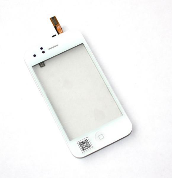 Тачскрин + спикер+ кнопка Home + датчик приближения (В сборе) iPhone3G/3GS white (TEST)
