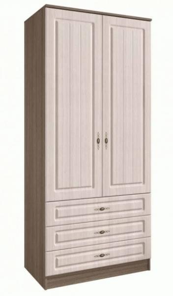 Фото Шкафы, шкафы-купе, пеналы  Ницца шкаф 2-х створчатый с ящиками Ш900.2 (ДСВ МЕБЕЛЬ)