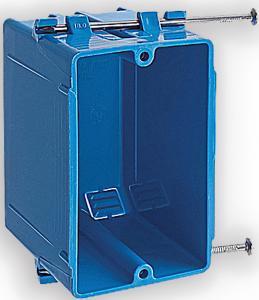 Фото Мультимедійні розетки і панелі Монтажна коробка одногангова з ПВХ, глибина 76 см