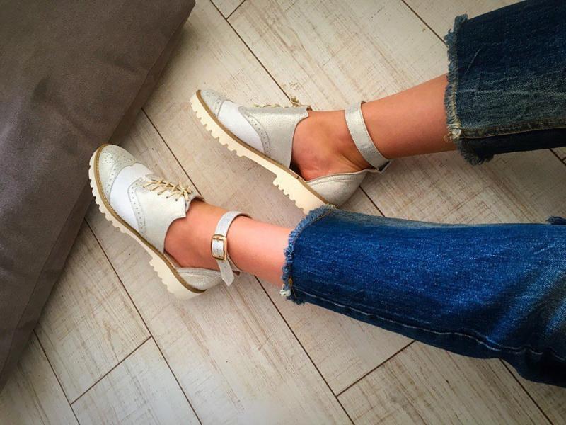 Летние туфли-лоферы в стиле Alex/Mc&ueen
