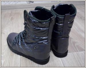Фото  Ботинки зимние серые