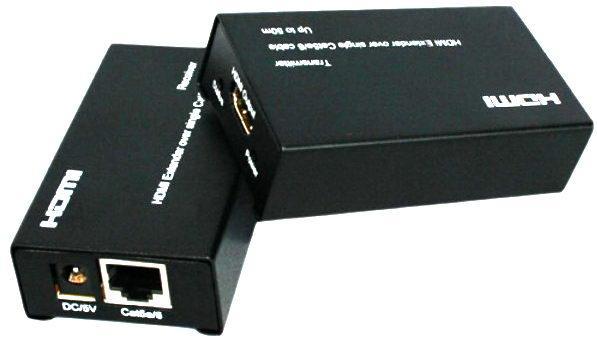 Подовжувач HDMI по одній парі Cat5e/6 до 50 м