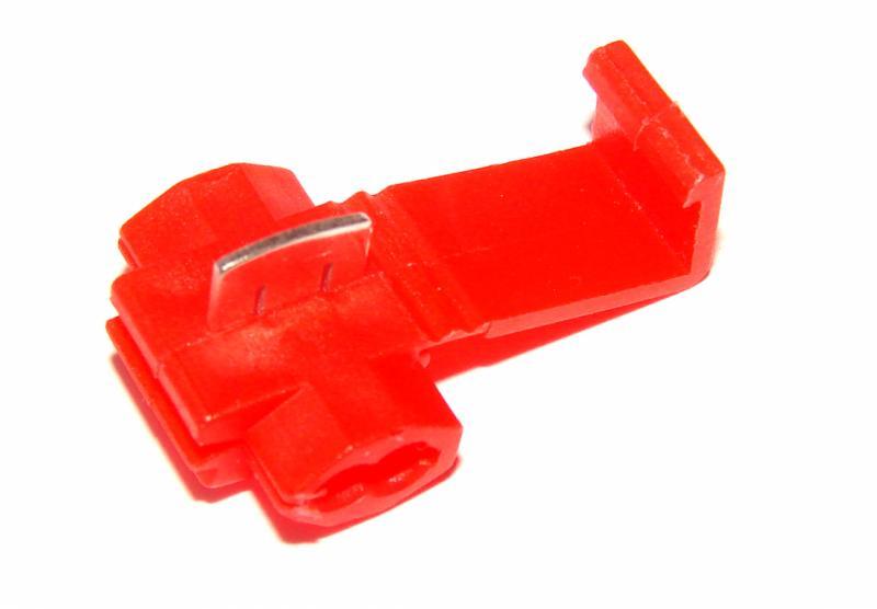 Соединитель проводов без зачистки клеммник , красный