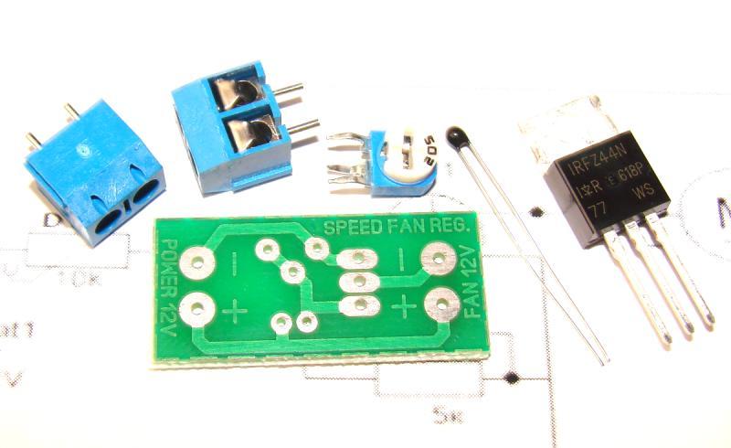 Набор для сборки Автоматическая регулировка вентилятора на охлаждение , терморегулятор , термостат .