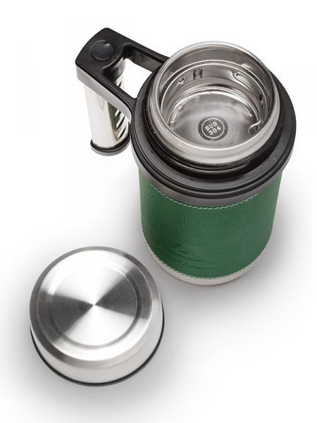 """Термо-кружка с ручкой и ситечком, зеленая, """"Арктика"""", 500 мл"""